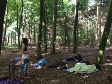 Sound healing in the forest