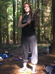 Drumming in the forest