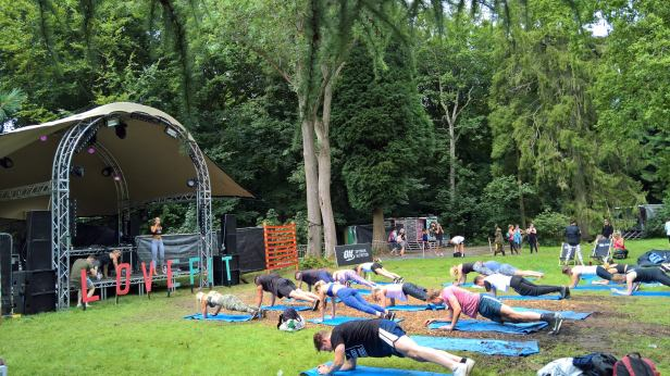 Workshops at Lovefit Festival in Kent