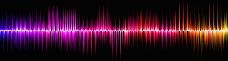 Sound therapy sound wave in colour